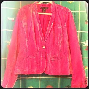 XL Vintage Calvin Klein crushed velvet blazer